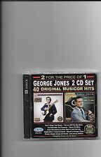 "GEORGE JONES, 2 CD SET ""40 ORIGINAL MUSICOR HITS"" NEW SEALED"
