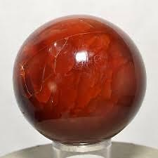 NATURAL RED CARNELIAN CRYSTAL SPHERE QUARTZ AAAAA++++++