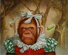 """HIGH QUALITY ANIMAL OIL PAINTING ON CANVAS : """"MONKEY"""" (24x30inch ,No frame)"""