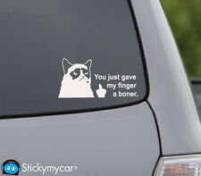 Grumpy cat middle finger flip off funny decal sticker best vinyl finder bumper