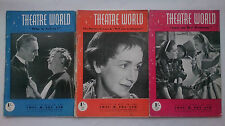 THEATRE WORLD MAGAZINES 1951,THREE ISSUES.LACE ON HER PETTICOAT.AIMEE STUART
