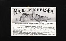 Made In Chelsea Expo 1st Day Cancel Tied Cinderella MA 1910 Picture Postcard  2q