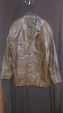 River Island Men's Leather Jacket Size L Brown