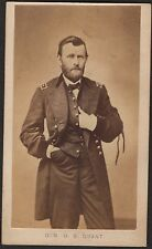 1860s Ulysses S. Grant with Abraham Lincoln Mourning Ribbons Mathew Brady Photo