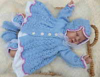 KNITTING PATTERN TO MAKE *DARLING BUDS* LACE MATINEE SET FOR BABY OR REBORN DOLL