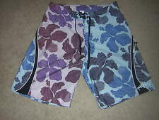 Quiksilver Surf Hawaiian Board SHORTS Men's Size 32 Multi-Color