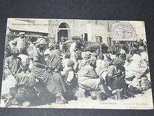 CPA 1908 COLONIES FRANCE AFRIQUE MAROC GUERRE CASABLANCA GROUPE DE SENEGALAISES