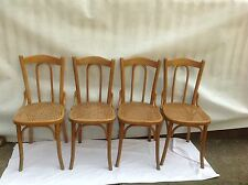 4 Antique Original Thonet Bentwood Chairs Caned Seat