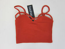 Boohoo Bella Strappy Front Bralet  - US 4 - Rust - NWT