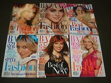 2008 HARPER'S BAZAAR MAGAZINE LOT OF 12 COMPLETE YEAR - FASHION COVERS - O 908