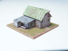 Z-scale Old world Barn Diorama Hand Built Structure in wood high detailing