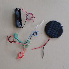 Solar Auto Light  DIY Kit Round Solar Panel one led white color