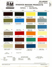 1970 MERCURY MARAUDER COUGAR CYCLONE COMET MARQUIS BROUGHAM 70 PAINT CHIPS RM 6