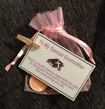 lucky penny christening gift for godmother godparent thank you gift Baptism Gift