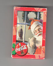 """COCA-COLA PLAYING CARDS CHRISTMAS THEME """"UNSEALED"""""""