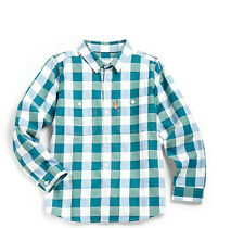 New Burberry  baby Boys Infant Gingham Dress Shirt Top Size 3  Month gift $115