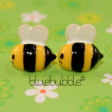 FUNKY BUSY BUMBLE BEE EARRINGS SWEET INSECT FUN ANIMAL KITSCH RETRO NOVELTY GIFT