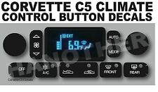 1997-2004 C5 CORVETTE CLIMATE CONTROL BUTTON DECAL STICKER