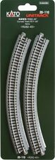 """Kato 20-110 N Unitrack 11"""" Radius Curve Track 4pcs"""