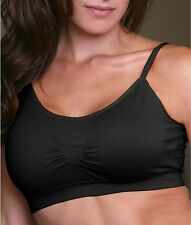 Coobie Seamless Bra Strappy Scoopneck 9012 One Size 32A-36D Black So Comfortable