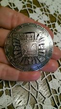 Vintage Sterling Aztec Mayan Warrior Mask Pin Trombone Clasp