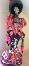 "Katherine's Collection 64"" Drop Dead Skeleton Catrina Calavera Halloween Doll"