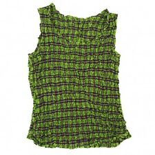 ISSEY MIYAKE plaid shirring processing tank top Size About S(K-17833)