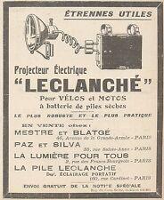 Z9883 Projecteur pour Vélos LECLANCHE' -  Pubblicità d'epoca - 1924 Old advert