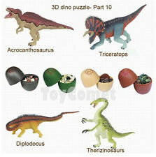 Set of 4 Dinosaur Dino Part X 4D 3D Puzzle Egg Model Kit DIY Educational Toy