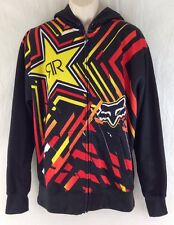 Fox Racing Mens XL Rockstar Energy Drink Spike Vortex Hoody/Hoodie Zip Jacket