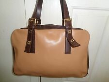 Francesco Biasia chic 2 tone leather large shoulder bag LKNEW!