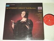 LP/MONTSERRAT CABALLE/VERDI RARITIES/RCA LSC 2995