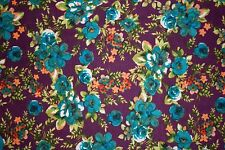 Floral Scuba Techno Print #2 Double Knit Fabric Stretch Poly Lycra Spandex BTY