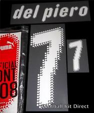 Official Italy Del Piero Euro 2008 Football Shirt Name/Number Set Home Kit
