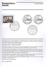 BOLLETTINO COMPLETO DI FRANCOBOLLI ANNULLO FDC: 2005 SAN GERARDO MAIELLA