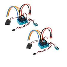 2X 120A Sensored Brushless Speed Controller ESC for 1/8 1/10 1/12 RC Car US W9Q6