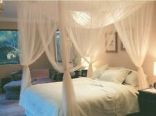 Large Mosquito Canopy Bed Net Cover Polyester Fabric Queen King Indoor Bedroom