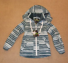 NEW TRESPASS  MAMACITA  LADIES SKI /BOARD JACKET (LARGE) DEEP SEA STRIPE