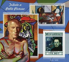 Mozambique 2015 MNH Pablo Picasso Tribute 1v S/S Art Paintings Old Guitarist