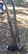 ANTIQUE PRIMITIVE INDUSTRIAL WOOD CAST IRON DOLLY HAND TOOL CART TRUCK TABLE ART