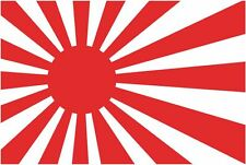 Japanese Old Rising Sun Flag Car Exterior Vinyl Sticker Decals x4