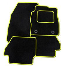 MERCEDES W203 C CLASS 2000-2007 TAILORED BLACK CAR MATS WITH YELLOW TRIM