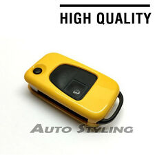Yellow Key Cover Case for Mercedes Benz Remote Fob 3 Button Hull Bag Skin 73yel