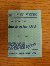 11/10/1975 Ticket: Leeds United v Manchester United [The Date Is Not Printed But