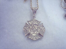 bling gold plated apple new york fire dept pendant charm chain hip hop necklace