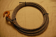 "1/2"" X 50 Ft Winch Cable Fiber Core with 3 Ton Hook for Wrecker & tow Truck"