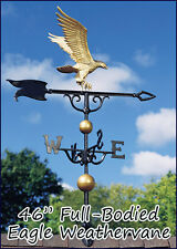"Whitehall Eagle Weathervane 46"" Full-Bodied Rooftop Gold-Bronze Ship FREE -QUICK"