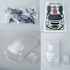 Transparent 1/10 PC Clear RC On-Road Car Body PC201218 suit for AUDI R8 195mm