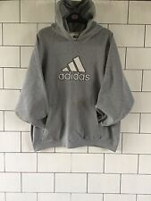 USA OLD VINTAGE RETRO GREY ADIDAS ATHLETIC 90'S SWEATSHIRT SWEATER HOODIE LARGE