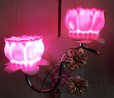 Pink Lotus Shaped LED Lamps Wall Light/Decorative Night Lamp by Dreamzdecor